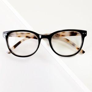 Eden reading glasses in Tortoise Nude